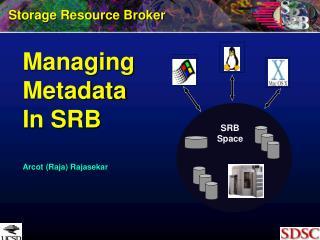 Managing  Metadata In SRB Arcot (Raja) Rajasekar