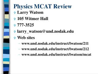 Physics MCAT Review