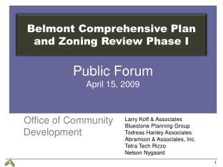Public Forum  April 15, 2009