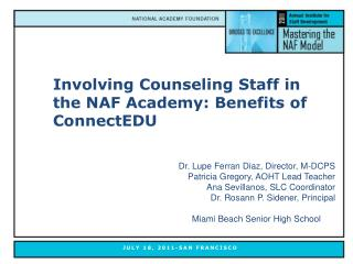 Involving Counseling Staff in the NAF Academy: Benefits of ConnectEDU