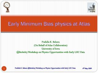 Early Minimum Bias physics at Atlas