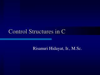 Control Structures in C