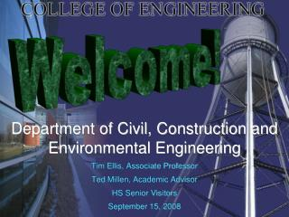 Department of Civil, Construction and Environmental Engineering