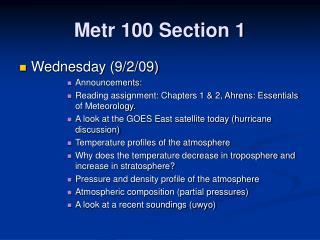 Metr 100 Section 1