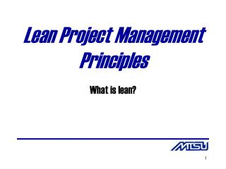Lean Project Management Principles