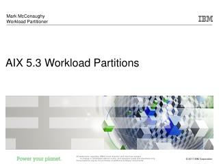 AIX 5.3 Workload Partitions