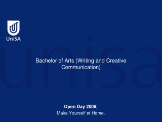 Bachelor of Arts (Writing and Creative Communication)