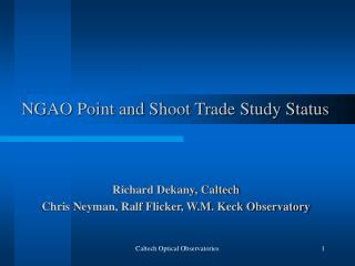 NGAO Point and Shoot Trade Study Status
