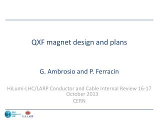 QXF magnet design and plans