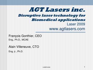 François Gonthier, CEO Eng., Ph.D., MCAE Alain Villeneuve, CTO Eng. jr., Ph.D.