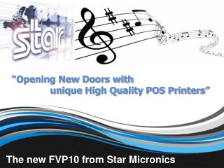 """Opening New Doors with                     unique High Quality POS Printers"""