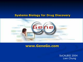 Systems Biology for Drug Discovery