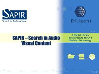 SAPIR –  Search  in Audio  Visual Content