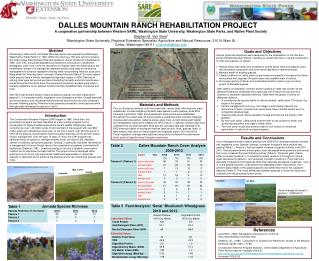 DALLES MOUNTAIN RANCH REHABILITATION PROJECT