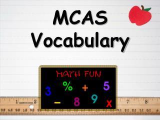MCAS  Vocabulary