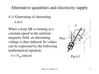 Alternative quantities and electricity supply