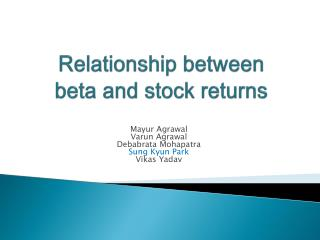 Relationship between beta and stock returns