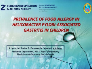 Food Allergy in Children