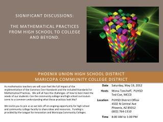Phoenix Union High School District  Maricopa Community College District