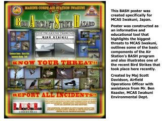 This BASH poster was created specifically for MCAS Iwakuni, Japan.