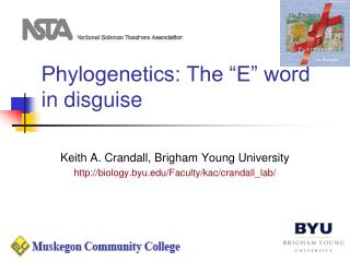 """Phylogenetics: The """"E"""" word in disguise"""