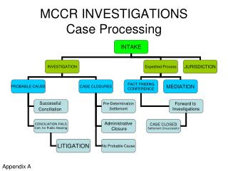 MCCR INVESTIGATIONS Case Processing