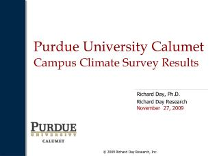 Purdue University Calumet  Campus Climate Survey Results