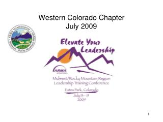 Western Colorado Chapter July 2009