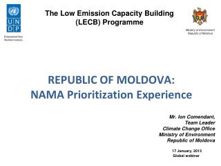 The Low Emission Capacity Building  ( LECB)  Programme