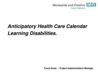 Anticipatory Health Care Calendar Learning Disabilities.