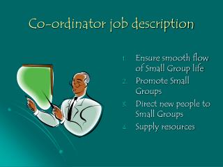 Co-ordinator job description