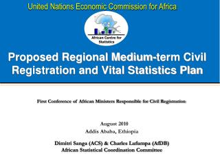 Proposed Regional Medium-term Civil Registration and Vital Statistics Plan