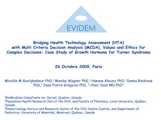 Bridging Health Technology Assessment (HTA)