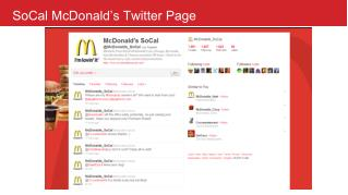 SoCal McDonald�s Twitter Page
