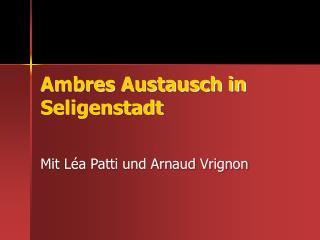 Ambres Austausch in Seligenstadt