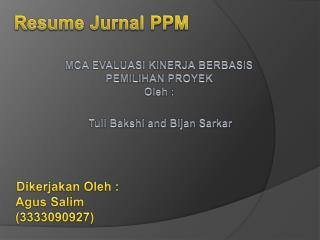 Resume Jurnal PPM