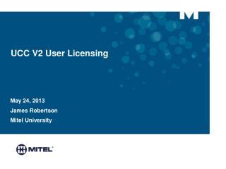 UCC V2 User Licensing