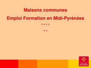 Maisons communes  Emploi Formation en Midi-Pyrénées  * * * *  * *