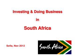 Investing & Doing Business  in  South Africa