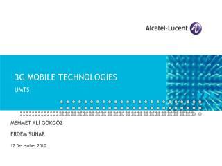 3G MOBILE TECHNOLOGIES UMTS