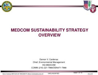 MEDCOM SUSTAINABILITY STRATEGY OVERVIEW