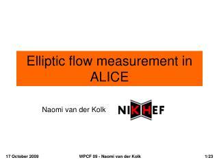 Elliptic flow measurement in ALICE