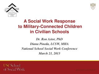 A Social Work Response  to Military-Connected Children  in Civilian Schools