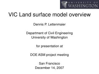 VIC Land surface model overview