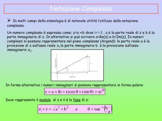 Notazione Complessa