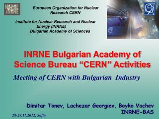 Euro p ean Organization for Nuclear Research  CERN