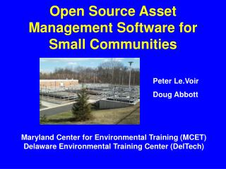 Open Source Asset Management Software for Small Communities
