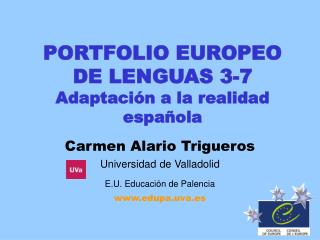 PORTFOLIO EUROPEO DE LENGUAS 3-7  Adaptaci�n a la realidad espa�ola
