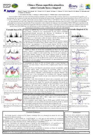 Clima e Fluxos superfície-atmosfera  sobre Cerrado Seco e Alagável
