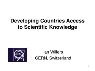 Developing Countries Access to Scientific Knowledge